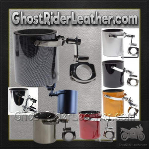 Motorcycle Cup Holders / Choice of Colors / SKU GRL-CUP4-DL