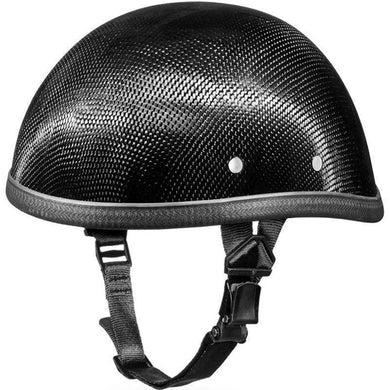Real Carbon Fiber Eagle Style Novelty Motorcycle Helmet - SKU LL-2002G-DH - Leather Lollipop