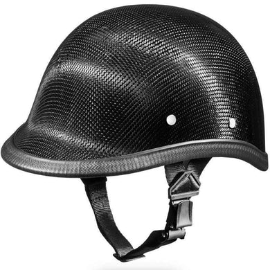 Jockey Polo Style Real Carbon Fiber Novelty Motorcycle Helmet / SKU GRL-2003G-DH