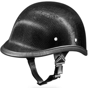 Real Carbon Fiber Jockey Polo Style Novelty Motorcycle Helmet / SKU GRL-2003G-DH - Leather Lollipop