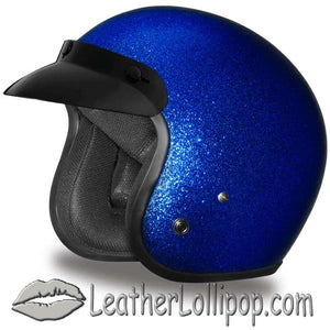 DOT Daytona Cruiser Metal Flake Color Choice Open Face Motorcycle Helmet - SKU LL-DC7-A-DH