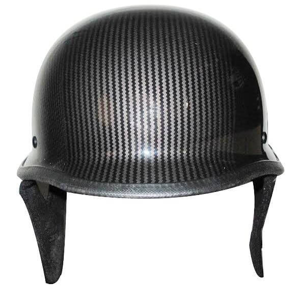 DOT Carbon Fiber LOOK German Motorcycle Shorty Helmet - SKU LL-320CL-HI