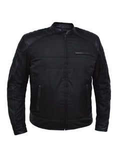 UNIK Men's Nylon / Leather Textile Jacket - Leather Lollipop