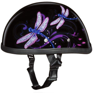 Eagle Style with Dragonfly Novelty Motorcycle Helmet / SKU GRL-6002DF-DH - Leather Lollipop