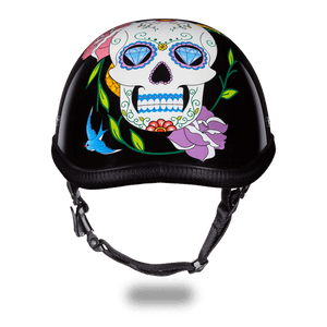 Eagle Style with Diamond Sugar Skull Novelty Motorcycle Helmet - SKU LL-6002DS-DH