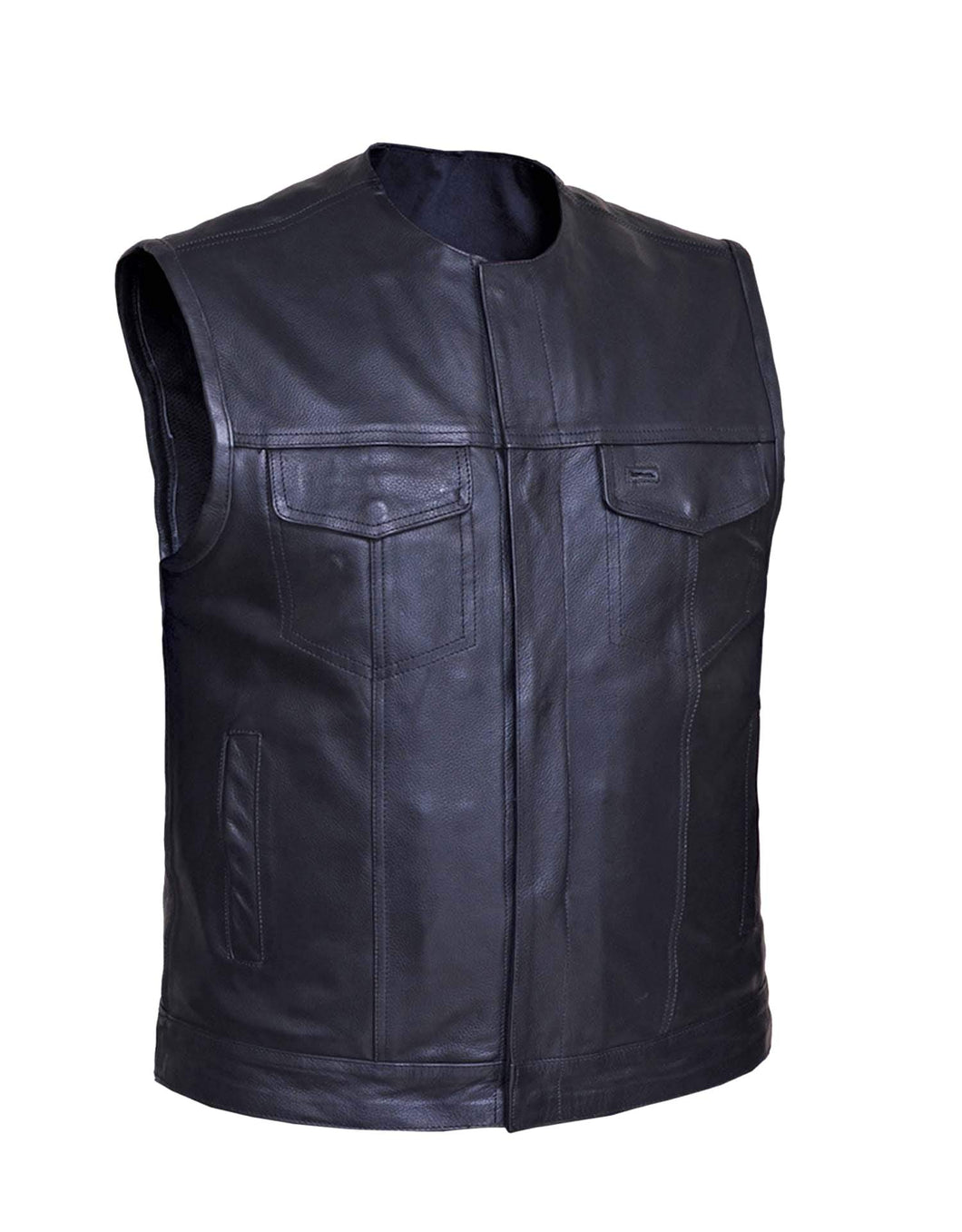 UNIK Men's SOA Style Motorcycle Vest - Leather Lollipop