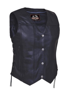 UNIK Ladies Premium 10-Pocket Vest - Leather Lollipop