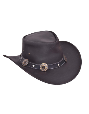 UNIK Leather Outback Hat - SKU LL-9211-00-UN - Leather Lollipop