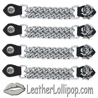Set of Four Rose Vest Extenders with Chrome Chain - SKU LL-AC1060-DL