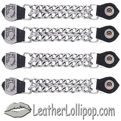 Set of Four POW MIA Vest Extenders with Chrome Chain - SKU LL-AC1065-DL