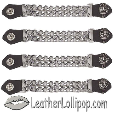Set of Four Liberty Torch Vest Extenders with Chrome Chain - SKU LL-AC1074-DL