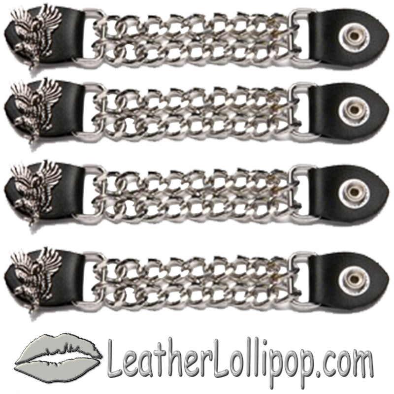 Set of Four Soaring Eagle Vest Extenders with Chrome Chain - SKU LL-AC1098-E-DL