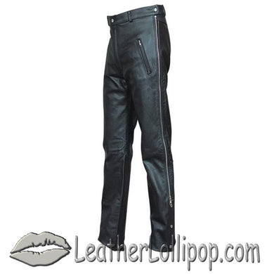 Mens Leather Chap Pants with Zipper Pockets - SKU LL-AL2510-AL - Leather Lollipop