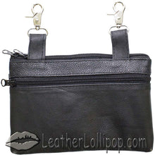Ladies Studded Leather Belt Bag with Studs Design - Belt Bag - SKU LL-BAG35-STUD-DL