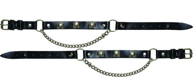 Pair of Biker Boot Chains - Texas Star - SKU LL-BC9-DL - Leather Lollipop