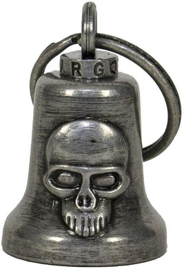 Skull - Gun Metal Motorcycle Guardian Ride Bell - SKU LL-BL29-GM-DL - Leather Lollipop