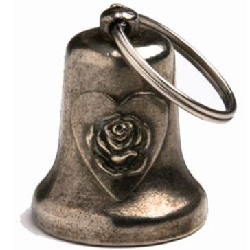 Heart and Rose - Motorcycle Guardian Ride Bell - SKU LL-BL31-DL - Leather Lollipop