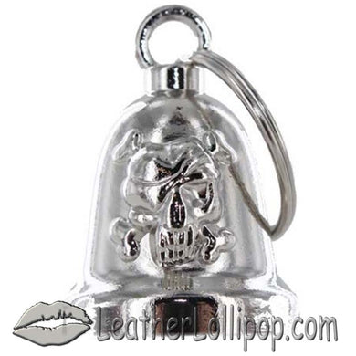 Skull and Crossbones - Motorcycle Ride Bell - SKU LL-BLC25-DL - Leather Lollipop