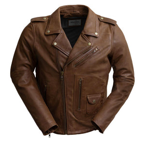 SID - MEN'S BROWN LEATHER JACKET - WBM2803 - Leather Lollipop
