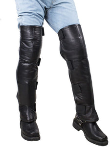Men's Leather Leggings With Wool Lining - SKU LL-C1005-11-DL - Leather Lollipop