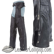 Plain Motorcycle Naked Leather Chaps for Men or Women - SKU LL-C325-01-DL