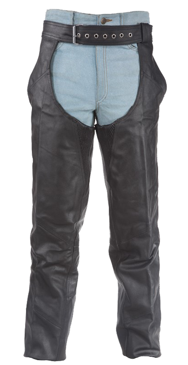 Braided Leather Chaps With Thigh Stretch for Men or Women - SKU LL-C336-DL