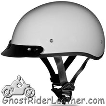 DOT Skull Cap Motorcycle Helmet in Pearl White - SKU LL-D1-PW-DH