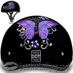 DOT Approved Motorcycle Helmet With Beautiful Butterflies - SKU LL-D6-B-DH