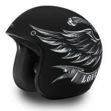 DOT Daytona Cruiser Love It Or Leave It Open Face Motorcycle Helmet - SKU LL-DC6-L-DH