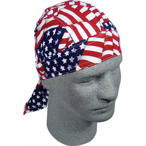 American Flag Bandana Head Wrap Durag for Bikers - SKU LL-DRI01-HI - Leather Lollipop