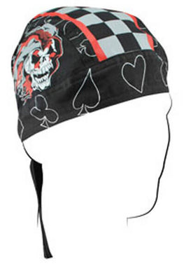 Jester Bandana Head Wrap Durag for Bikers - SKU LL-Z645-HI - Leather Lollipop
