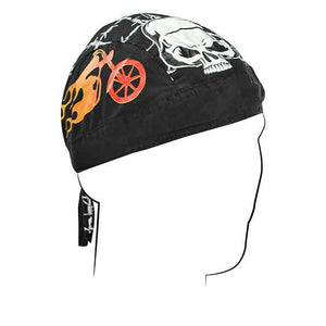 Kaiser Skull Bandana Head Wrap Durag for Bikers - SKU LL-Z658-HI - Leather Lollipop