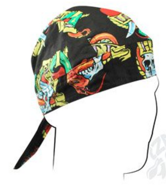 Love and Hate Bandana Head Wrap Durag for Bikers - SKU LL-Z616-HI - Leather Lollipop