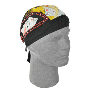 Lucky Pin-up Bandana Head Wrap Durag for Bikers - SKU LL-Z677-HI - Leather Lollipop