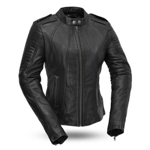 Biker - Women's Leather Motorcycle Racing Jacket - FIL104SDMZ - Leather Lollipop