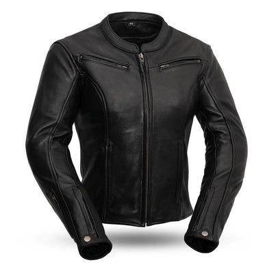 Speed Queen - Women's Leather Motorcycle Jacket - FIM158CLMZ - Leather Lollipop