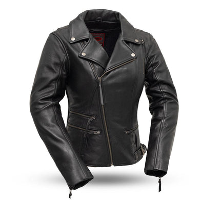 Monte Carlo Women's Classic Leather Jacket - FIL160NOCZ - Leather Lollipop
