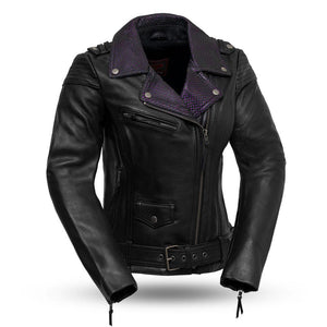 Iris - Women's Leather Motorcycle Jacket - FIL184CJ - Leather Lollipop