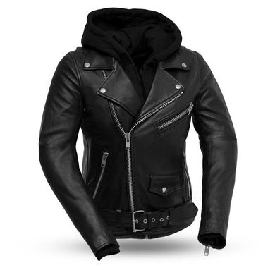 Ryman - Women's Leather Jacket with Removable Sweatshirt - SKU LL-FIL185SDMZ-FM - Leather Lollipop