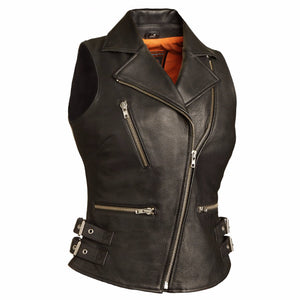 Sexy Goddess - Women's Leather Motorcycle Vest - FIL510CCB - Leather Lollipop