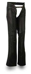 Riser - Womens Leather Chaps - SKU LL-FIL750NOC-FM - Leather Lollipop