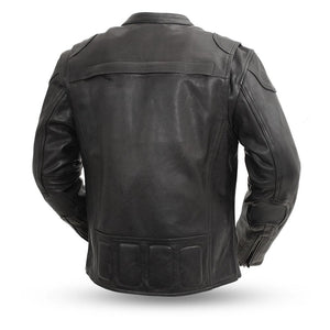 Nemesis - Men's Leather Motorcycle Racing Jacket - FIM295CHRZ - Leather Lollipop
