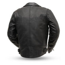 Enforcer - Men's Black or Antique Leather Motorcycle Jacket - FIM297CTFYZ - Leather Lollipop