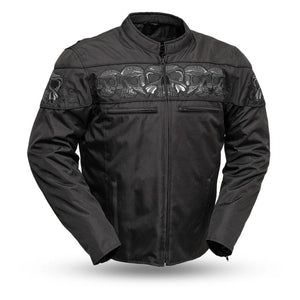 Immortal - Men's Codura Reflective Skull Jacket - FIM450TEX - Leather Lollipop