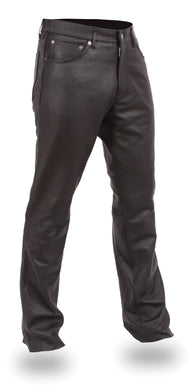 Commander Leather Jeans 5 Pocket Style - SKU LL-FIM833CFD-FM - Leather Lollipop