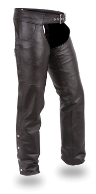 Stampede Leather Chaps - SKU LL-FIM835NOC-FM - Leather Lollipop