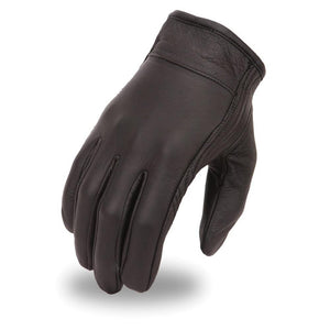 Men's Clean Short Leather Glove - SKU LL-FI132GEL-FM - Leather Lollipop
