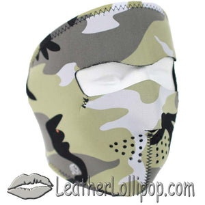 Full Face Neoprene Face Mask with Urban Camo Design - SKU LL-FMA15-CAMO-HI