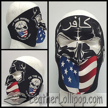 Full Face Neoprene Face Mask with Infidel Warned About - SKU LL-FMY06-INFIDEL-HI