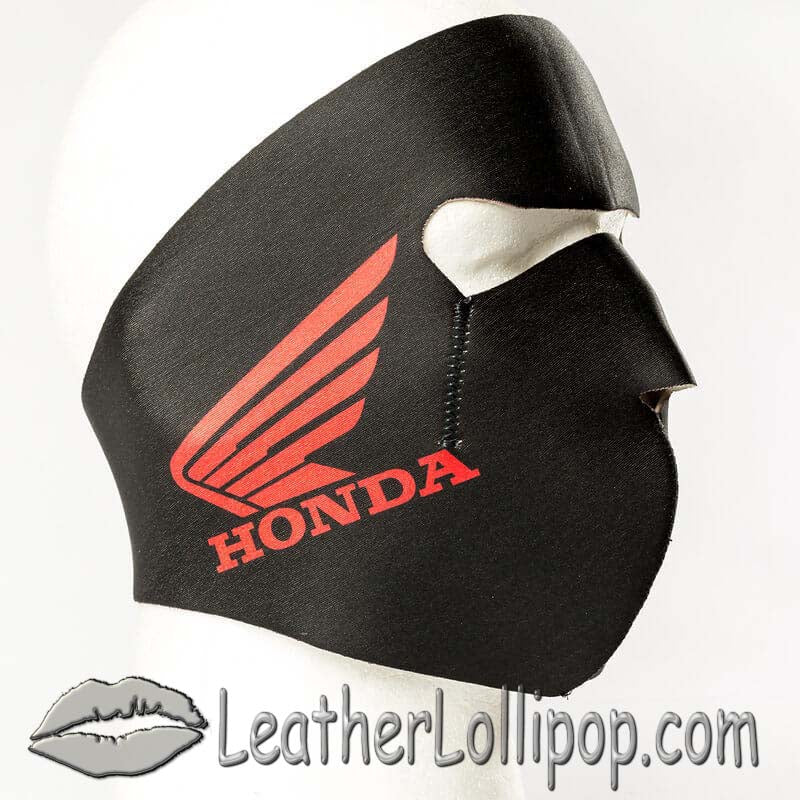 Full Face Neoprene Face Mask with Honda Logo - SKU LL-FMY24-HONDA-HI